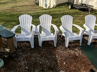two white wooden adirondack chairs Clinton, 20735