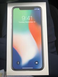 iPhone X 256GB new in box unlocked  Irvine, 92606