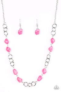 pink and silver beaded necklace Adelanto, 92301