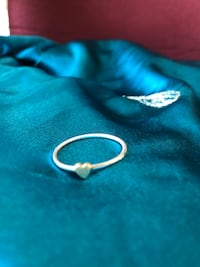 Real Antique Gold Silver Heart Ring