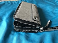 black and gray leather crossbody bag Arlington, 22204