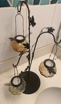 Fall black iron decorative candle holders from pier 1 Aliso Viejo, 92656