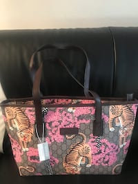 black and pink floral tote bag Warren, 48092