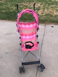 baby's pink and white lightweight stroller Greeley, 80634