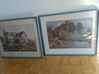 Two pastel prints approx 1 1/2' by 2 1/2' Vaughan, L4L 5H7