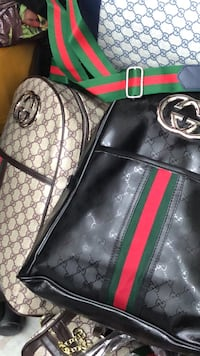 black and green Gucci leather backpack Dallas, 75224