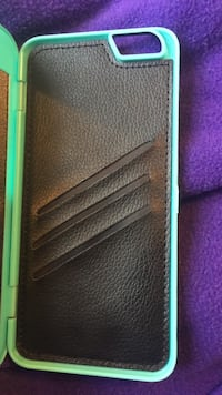 iPhone 6s Plus case with wallet and mirror