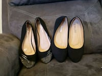 four pairs of black and brown leather flats Salinas, 93907