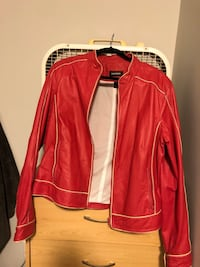 Size large pink Danier leather jacket