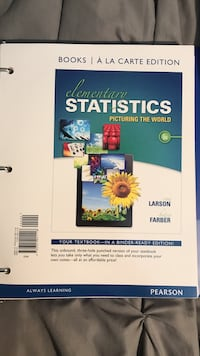 Elementary Statistics Picturing the world, 6th Edition Miami, 33176