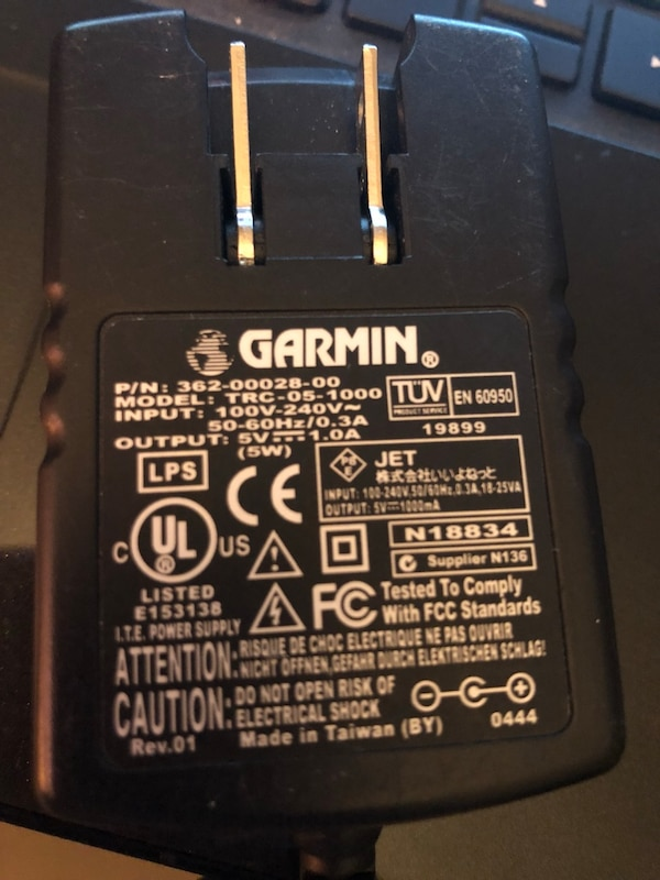 Genuine Garmin QUEST GPS 5V 1 0A 5W home wall charger power supply  TRC-05-1000