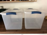 Two large plastic containers with lid 12x16x12 $5 Fort Lauderdale, 33311