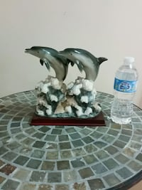 Dolphins statue home accent