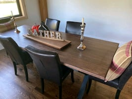 Stained Oak Harvest Tables