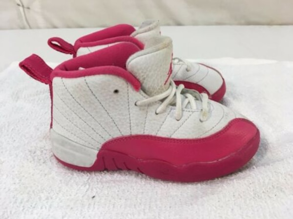 low priced 16977 61ef4 Nike Air Jordans 12 Retro 9C Valentines Dynamic Pink White Shoes 00932
