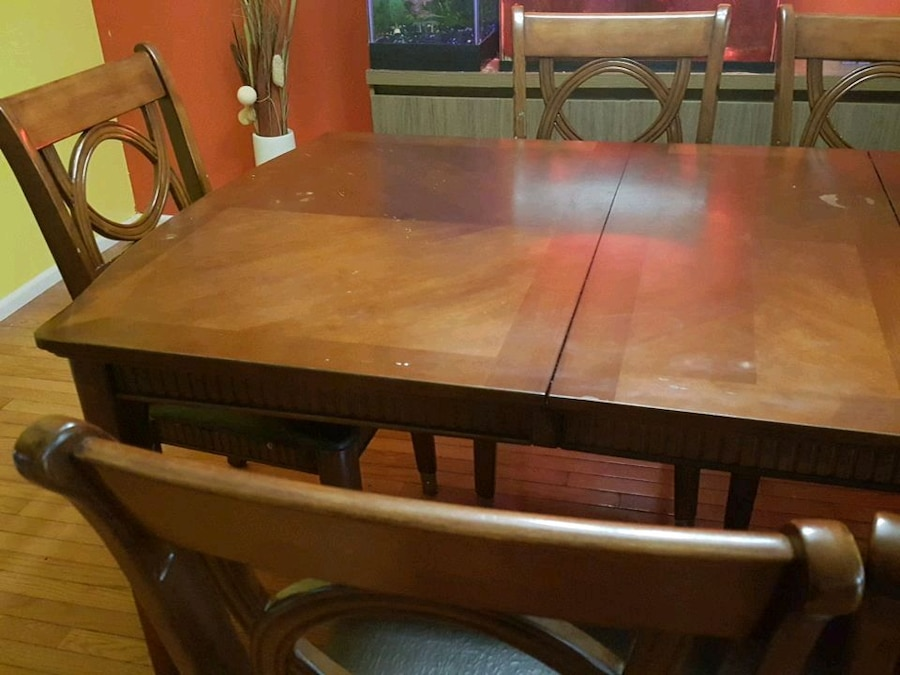 6 Chair Collapsible Dining Table Set