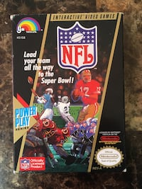 NES Nintendo NFL Football Game Boxed