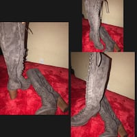 Grey high boots Citrus Heights