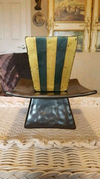 Vintage candle and pedestal ceramic display