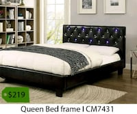 brown wooden bed frame with mattress La Mirada, 90638