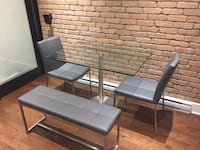 Modern table, chair and bench set