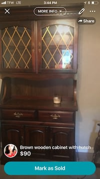 brown wooden cabinet with hutch Austin, 78745