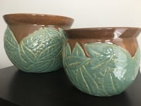 two green-and-white ceramic bowls Alexandria, 22314
