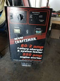 black Seats Craftsman battery charger & system tes