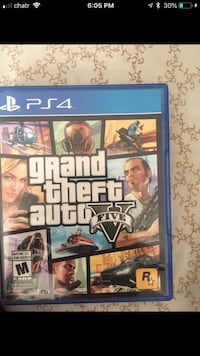 Grand theft auto five ps4 game case Mississauga