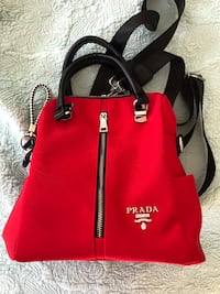 Red and black  leather tote bag Ancaster, L9G 0B2