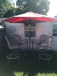 Bar height table and 4 chairs $100 OBO Albany, 12205