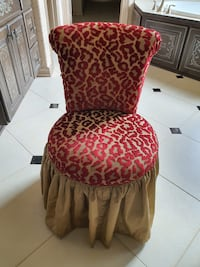 Beautiful custom Makeup Vanity chair!