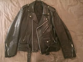 Walking dead fans!! Heavy leather biker jacket medium
