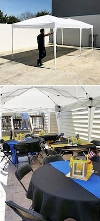 New $140 White color 10x20 ft EZ Pop Up Canopy Outdoor Sun Shade, Carrying Bag South El Monte