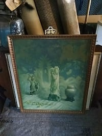 two brown wooden framed painting of white flowers Toronto, M3H