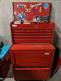Snap On red tool box with tools Langley City, V2Y 2B2