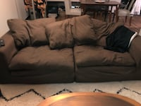 brown suede 3-seat sofa Reston