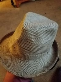 gray and white fedora hat Rockville, 20852