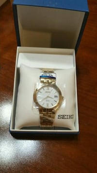 Seiko New Men's Watch SNE030 Gold Tone Harlingen, 78550