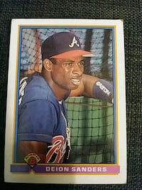 Deion Sanders 1991 w/ Atlanta Braves Washington