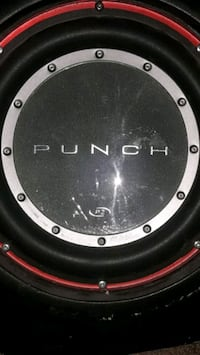 black and gray Punch p2 subwoofer Winnipeg, R2L 0Z1