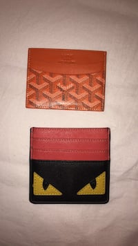 two red and brown leather wallets Toronto, M4S 3E9
