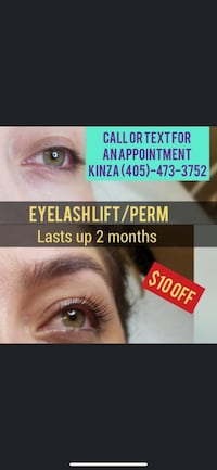 Eyelash Lift/ Perm. Special offer of $10 off
