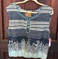 New Free People blouse   - light and navy blue - NWT