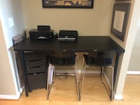 Desk Set (Comes With 2 Chairs and Drawer)