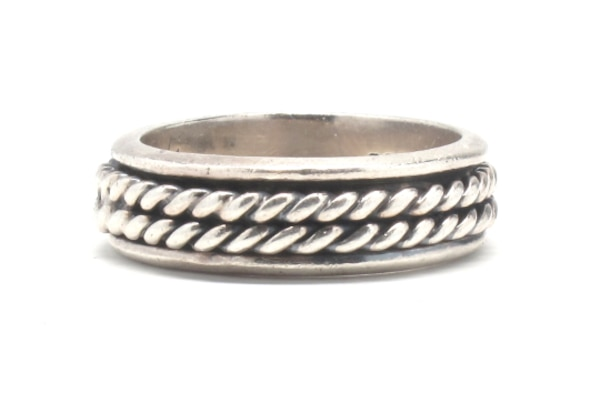 Mens Silver Rope Band