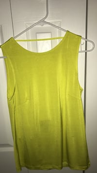 NEW Women's yellow open back tank top Miami