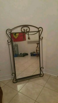 Wrought iron mirror Vaughan