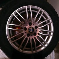 4 Tires with chrome rims - BMW X3, winters Vaughan, L6A 2N7