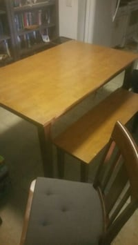 Dining table with bench and 4 chairs 909 mi